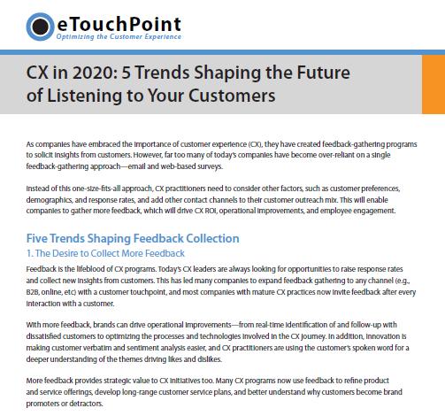 CX in 2020
