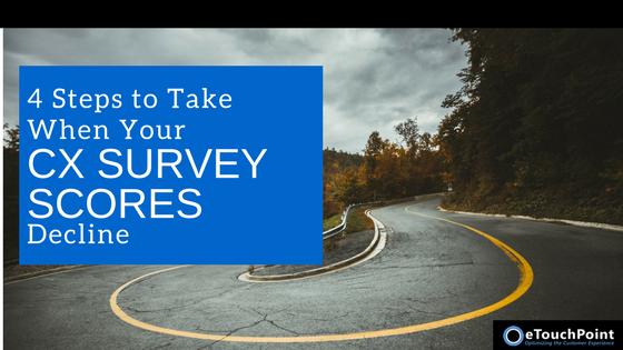 4 Steps to Take When CX Survey Scores Decline